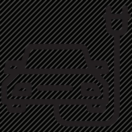 automobile, ecologic, ecological, plug, transport, vehicle icon