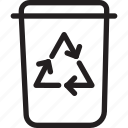 arrows, can, garbage, recycling, trash icon