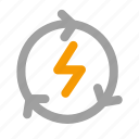 ecology, electricity, recyclable icon