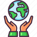 eco, ecology, environment, hands, planet, save earth icon
