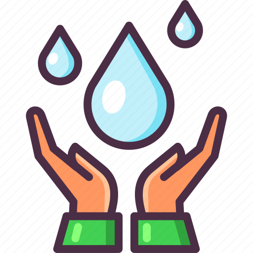 drops, eco, ecology, hands, save water, water icon