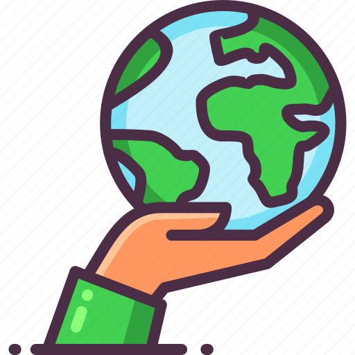 eco, ecology, green, hand, planet, save earth icon
