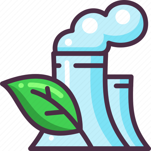 eco, ecology, energy, leaf, nuclear, plant icon