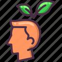 eco, ecology, green, head, leaf