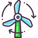 eco, ecology, energy, power, turbine, wind icon