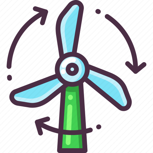 eco, ecology, energy, power, turbine, wind icon