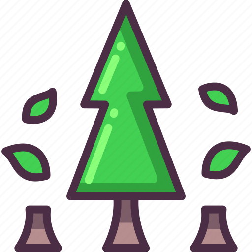 cut, deforestation, ecology, lumber, pollution, tree icon
