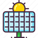 eco, ecology, energy, solar, solar energy, solar panel icon
