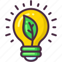 bulb, ecology, electricity, green, light icon