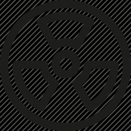 atomic, eco, energy, environment, nuclear, power, radiation icon