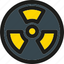 atomic, attention, caution, danger, nuclear, radioactive icon