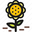 decorative, flower, flowers, plant, shape, spring icon