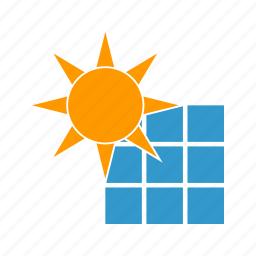 battery, ecological, environment, sun icon