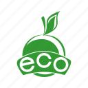 apple, ecological, environmental, organic icon