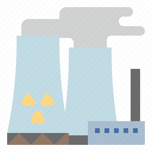chimney, industry, nuclear, plant, power, radiation icon