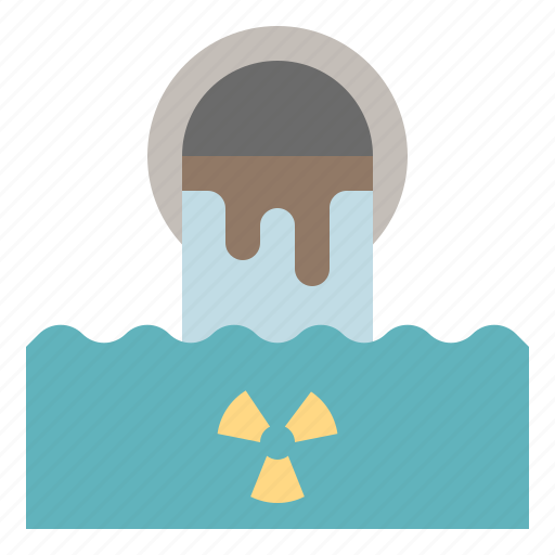contamination, filth, pollution, sewer, waste, water icon