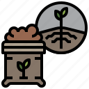 farming, fertilizer, gardening, organic, seeds icon