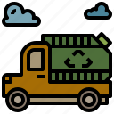 automobile, garbage, transport, trash, vehicle icon