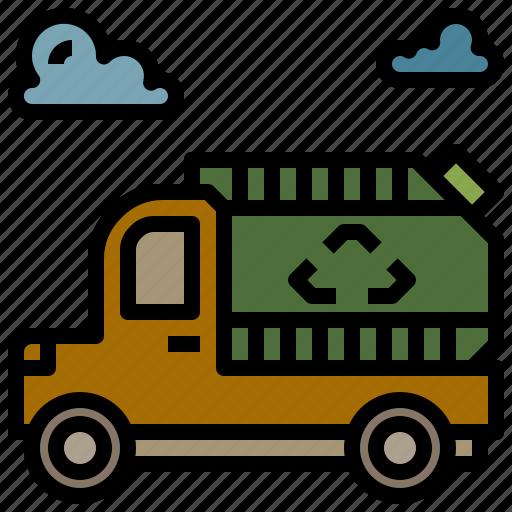 automobile, garbage, transport, trash, vehicle icon