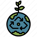 ecologic, energy, green, wind, world icon