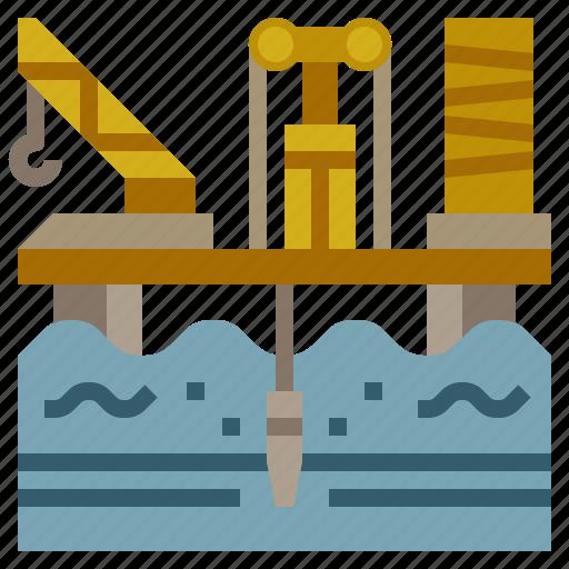 buildings, gas, industry, oil, platform icon