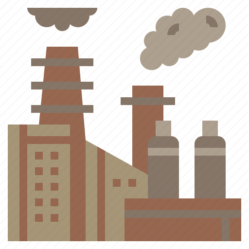 buildings, factory, industrial, industry, landscape icon
