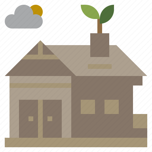 buildings, construction, home, house, nature icon