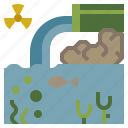contamination, industry, nature, waste, water icon