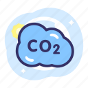 carbondioxide, co2, earth day, ecology, energy icon