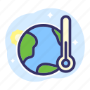 earth, earth day, ecology, temperature, therm icon