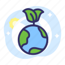 earth day, eco-friendly, ecology, globe, go-green icon