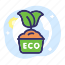 earth day, eco, ecology, plant, pot icon