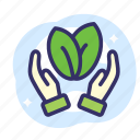 earth day, ecology, energy, keeping, plant icon