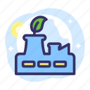 earth day, ecology, energy, environment, factory, manufacture, plant icon