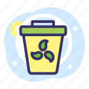 earth day, eco, ecology, energy, friendly, recycle, trash icon