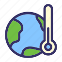 earth, earth day, ecology, energy, temperature, therm icon