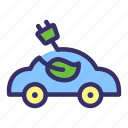 car, earth day, eco, ecology, electric, energy, friendly icon