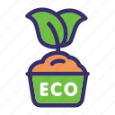 earth day, eco, ecology, energy, leaf, plant, pot icon