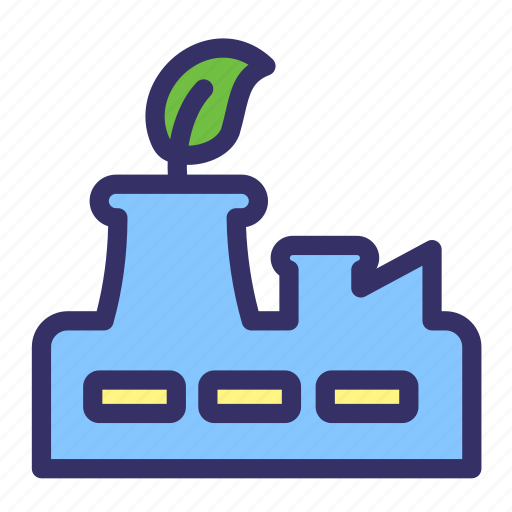 Earth day, ecology, factory, manufacture, plant, industry icon - Download on Iconfinder