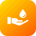 ecology, environment, guardar, hand, save, water icon