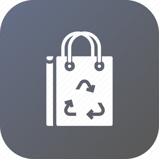 bag, carrybag, ecofreindly, ecology, environment, recycle icon