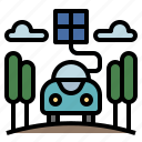 battery, car, eco, ecology, electric icon