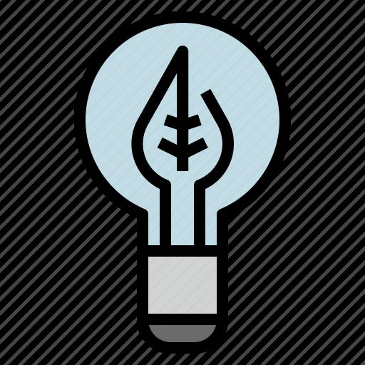 energy, lamp, led, save icon