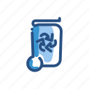 arrow, can, garbadge, recycle, rubbish, trash icon