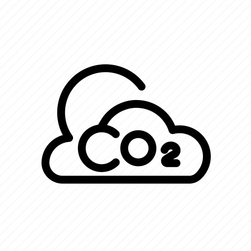 carbon, cloud, dioxide, ecology, weather icon