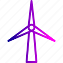 ecology, environment, turbine, wind, windmill icon