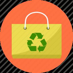 bag, basket, biodegradable bag, cart, eco, environment, shopping icon