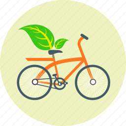 bicycle, bike, cycling, ecology, environment, green, non polluting icon