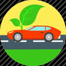 auto, automobile, eco, ecology, electric car, environment, non polluting icon