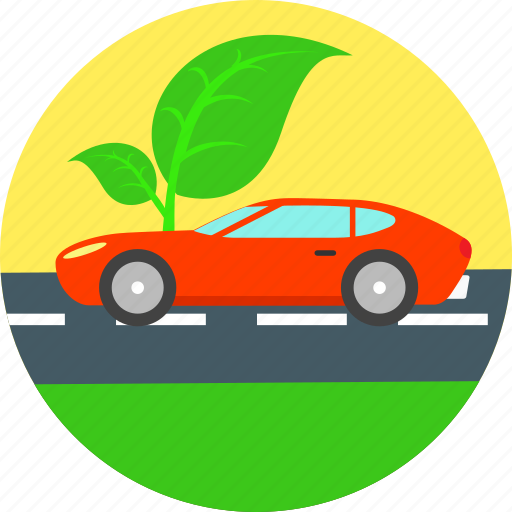 auto, automobile, eco, ecology, electric car, environment, non polluting icon